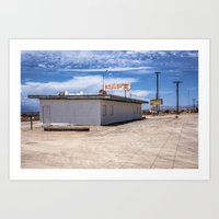 cafe Art Prints featuring cafe by petervirth photography