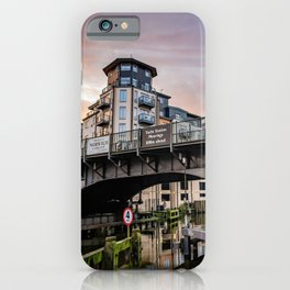 Carrow Road Bridge corssing over the River Wensum in the city of Norwich iPhone Case