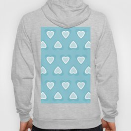 Love in Spring Time - Turquoise Hearts Hoody