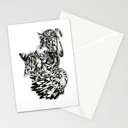 3 cats esoflowizm art Stationery Cards