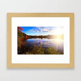 Lake Sun Framed Art Print