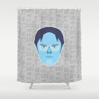dwight Shower Curtains featuring Dwight Schrute - The Office by Kuki