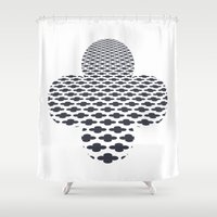 cross Shower Curtains featuring cross by henrymade