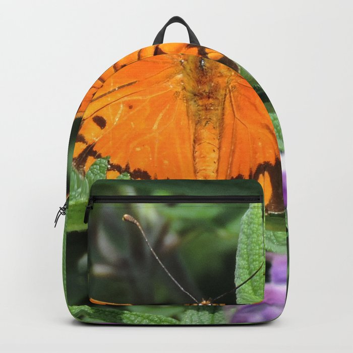 A Gulf Fritillary Shows Wear and Tear Backpack