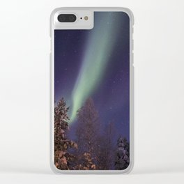 Finland lapland northern lights Clear iPhone Case