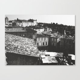 French Roofs Canvas Print