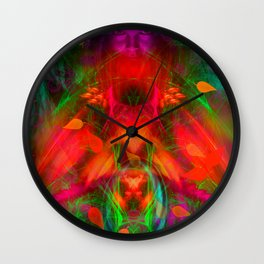Late September Blooming Thoughts Wall Clock