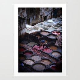 Travel: Morocco Leather Art Print