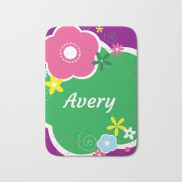 Avery: Personalized Gifts for Girls and Women Bath Mat