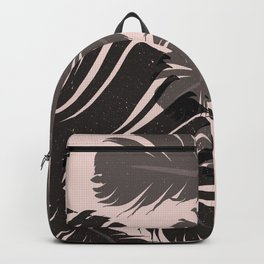 Tropical Leaf Silhouette in Pink Palette Backpack