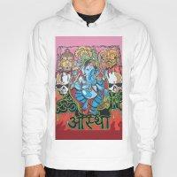 hindu Hoodies featuring Hindu God by Vic Piano