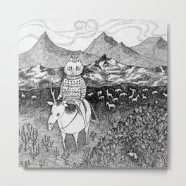 Sami fox Metal Print