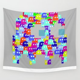Pac Man Ghost Wall Tapestry