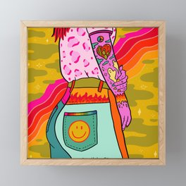 Smiley Booty Framed Mini Art Print