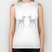 twins Biker Tanks featuring Twins by Lise Goossens