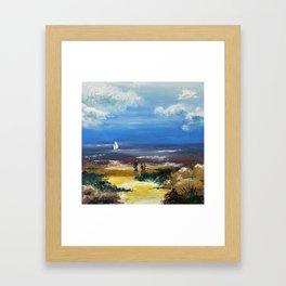 A marée basse Framed Art Print