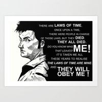 Laws Of Time Art Print