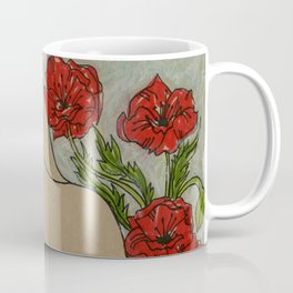 Woman in Poppies 1 Coffee Mug