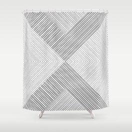 Stripe Geometric Arrow Shower Curtain