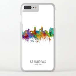 St Andrews Scotland Skyline Clear iPhone Case