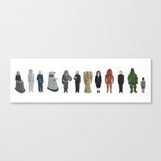 Dr Who Aliens Canvas Print