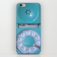 Aqua Hotline iPhone & iPod Skin