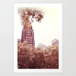 Bryant Park NYC Art Print