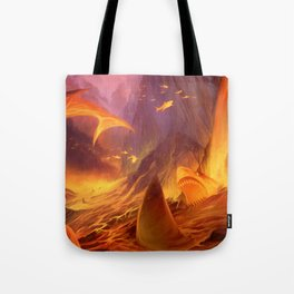 The Great White Lava Bed Tote Bag