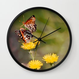 Butterfly Acrobats Wall Clock