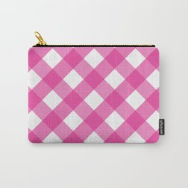 Pink & White Checkered Pattern-Mix and Match with Simplicity of Life Carry-All Pouch