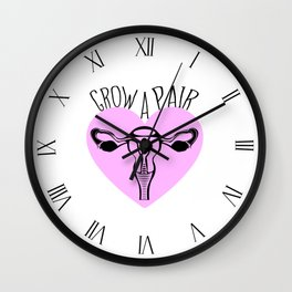 Grow A Pair Wall Clock