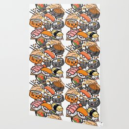 Sushi Party Wallpaper