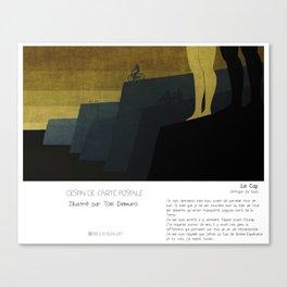 """""""Le Cap"""" en Mots & Image (French Touch) par Toni Demuro Canvas Print"""