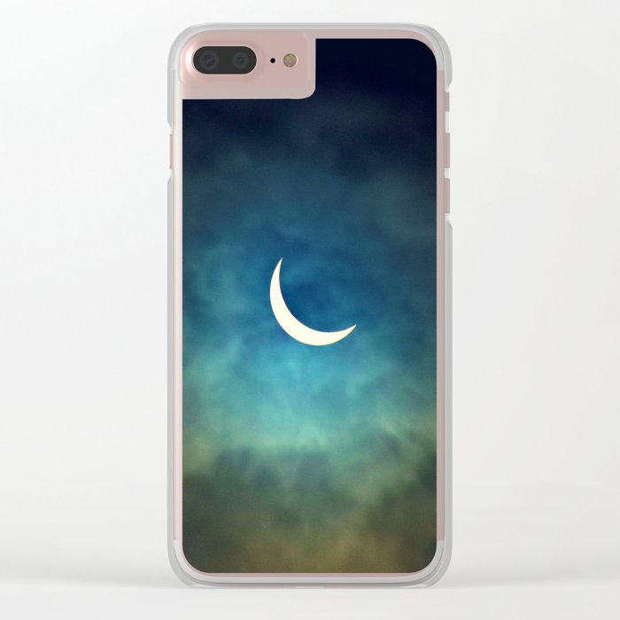 Solar Eclipse 1 Clear iPhone Case