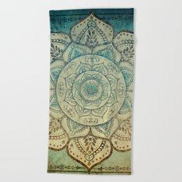 Faded Bohemian Mandala Beach Towel