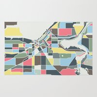 seattle Area & Throw Rugs featuring Seattle. by Studio Tesouro