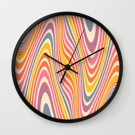 Retro Beauty Wavy Wall Clock