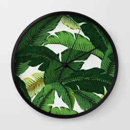 banana leaf palms Wall Clock