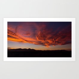 Desert Sky on Fire Art Print