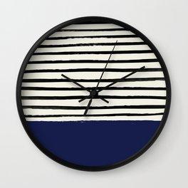 Navy x Stripes Wall Clock