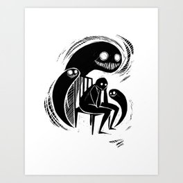 Ghosts Art Print