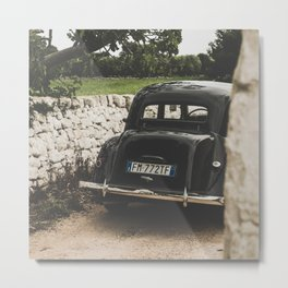 Citroën traction avant, Apulia photography, vintage car, old cars, sports car, Puglia photography Metal Print