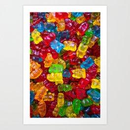 Rainbow Gummy Bears Art Print