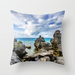 Tobacco Bay Beach, Bermuda Throw Pillow
