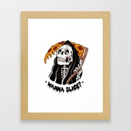 Grim Pizza Framed Art Print