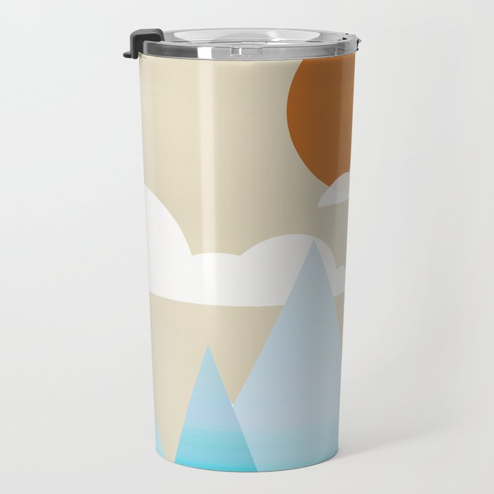Sun, Clouds and Mountains Travel Mug