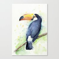 toucan Canvas Prints featuring Toucan by Olechka