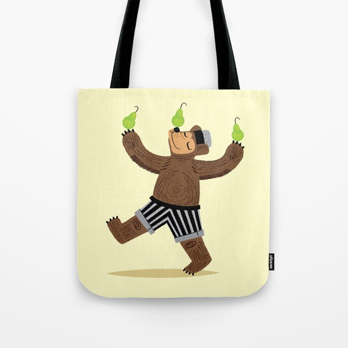 A Bear With Pears Tote Bag