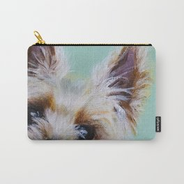 Peek-A-Boo Yorkie Carry-All Pouch