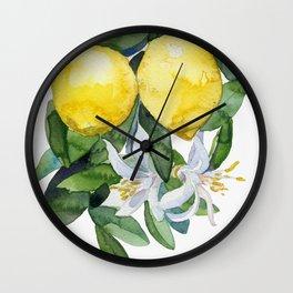 lemon tee Wall Clock